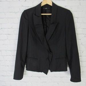 Hugo Boss Jacket Blazer Womens 2 Black Wool Blend